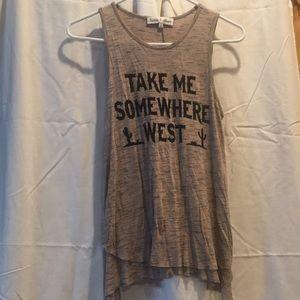 """Take Me Somewhere West"" Tank Top"